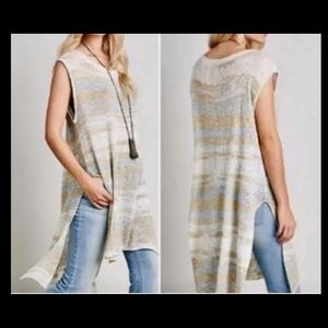 Free People Always Sunny Days Striped Tunic L